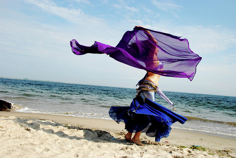Dancing At The Beach Photograph by Srosh Anwar Photography