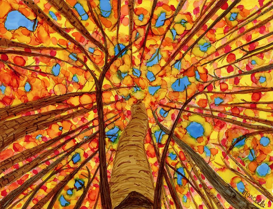 Autumn Painting - Dancing Grove by Marcella Chapman