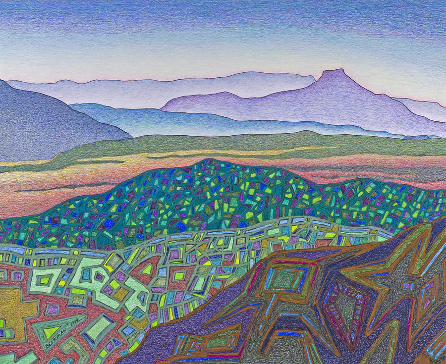 Dale Beckman Drawing - Dancing Light Of Northern New Mexico by Dale Beckman