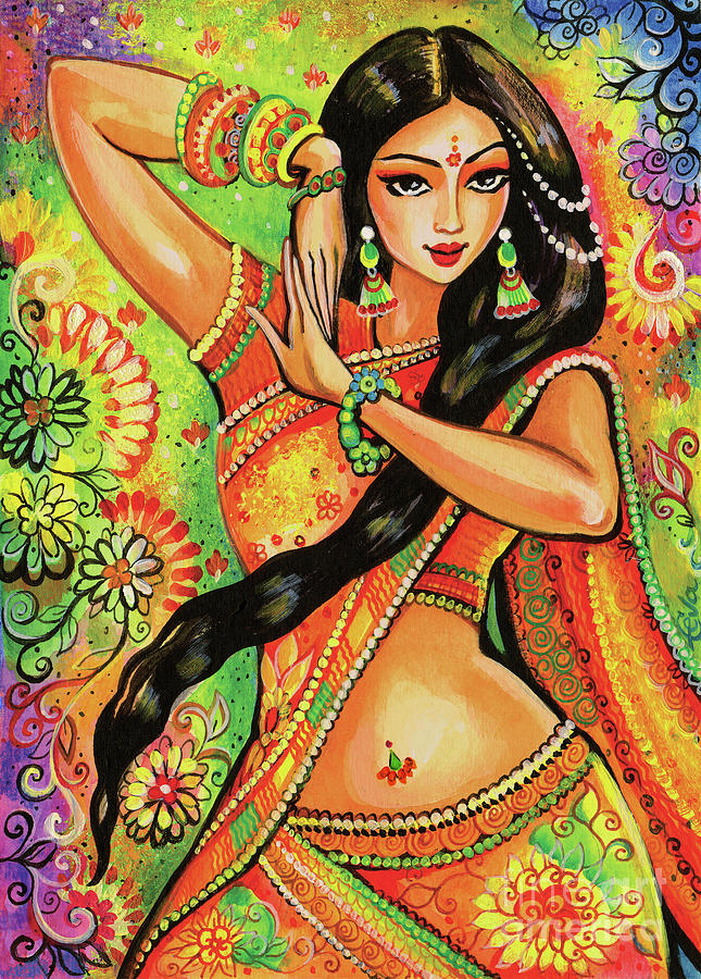 Indian Dancer Painting - Dancing Nithya by Eva Campbell