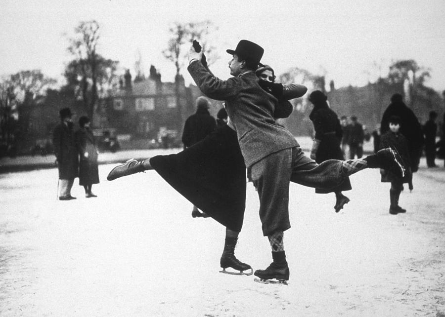 England Photograph - Dancing On Ice by H. F. Davis