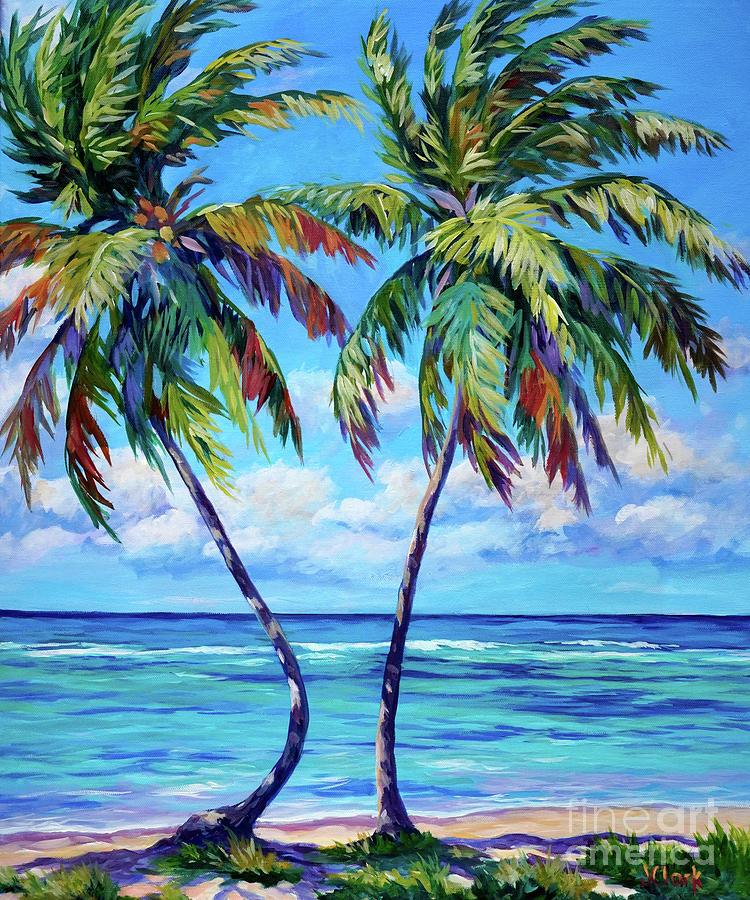 Hawaii Painting - Dancing Palm by John Clark