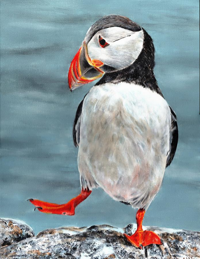 Dancing Puffin by John Neeve