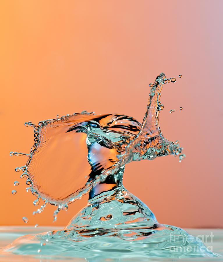 Drop Photograph - Dancing Water Droplet High Speed by Circumnavigation