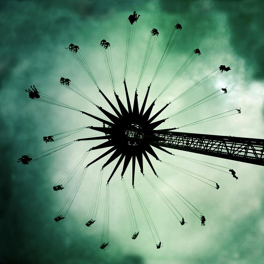 Carousel Photograph - Dandelion by Frank Wijn