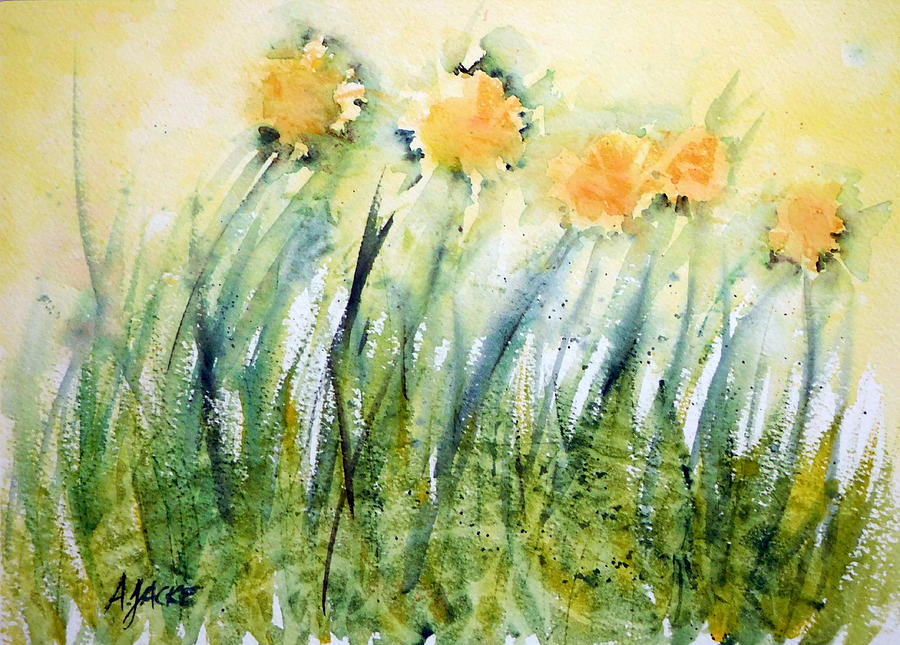 Dandelions in the Grass by Anna Jacke