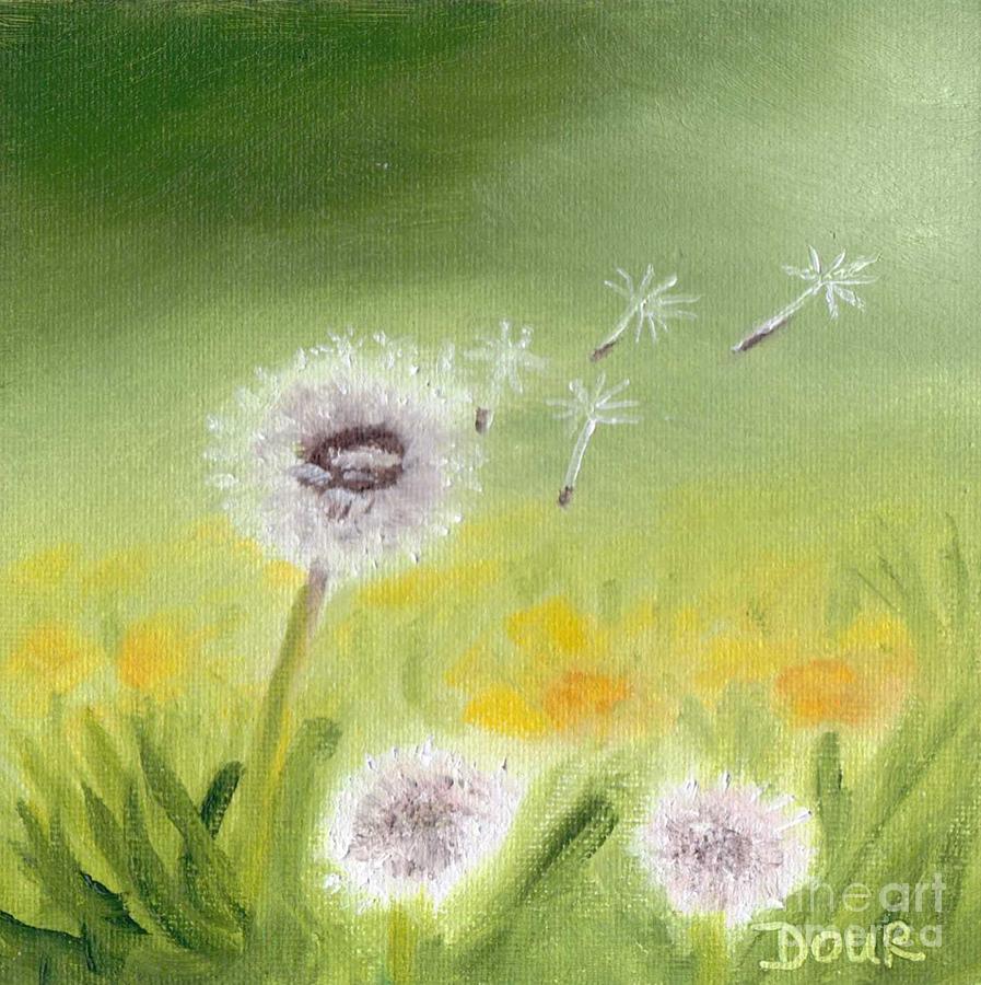 Landscape Painting - Dandelions by Joanne Dour