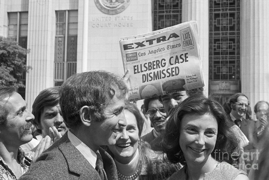 Daniel Ellsberg And Wife Walk From Court Photograph by Bettmann