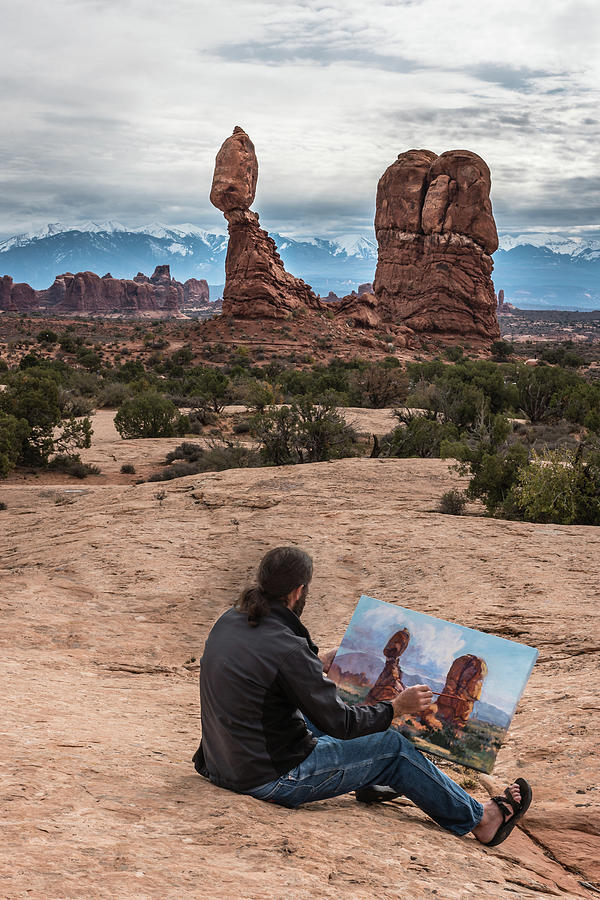 Daniel Paints Balanced Rock by William Christiansen