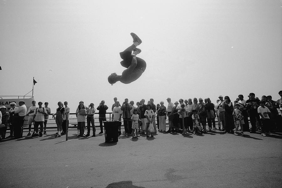 Danny Salas Does A Backflip During Photograph by New York Daily News Archive
