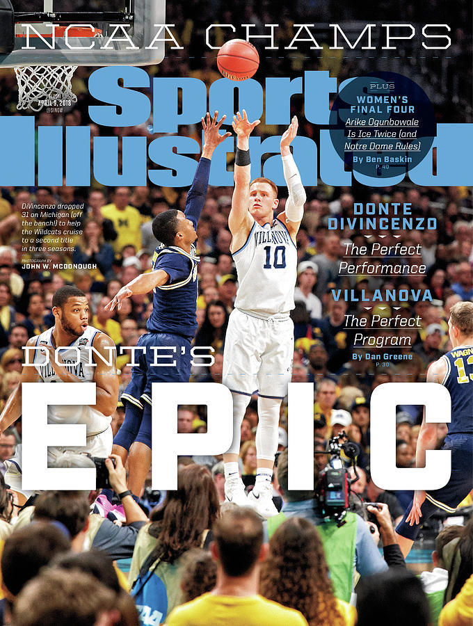 Magazine Cover Photograph - Dantes Epic Donte Divincenzo, The Perfect Performance Sports Illustrated Cover by Sports Illustrated