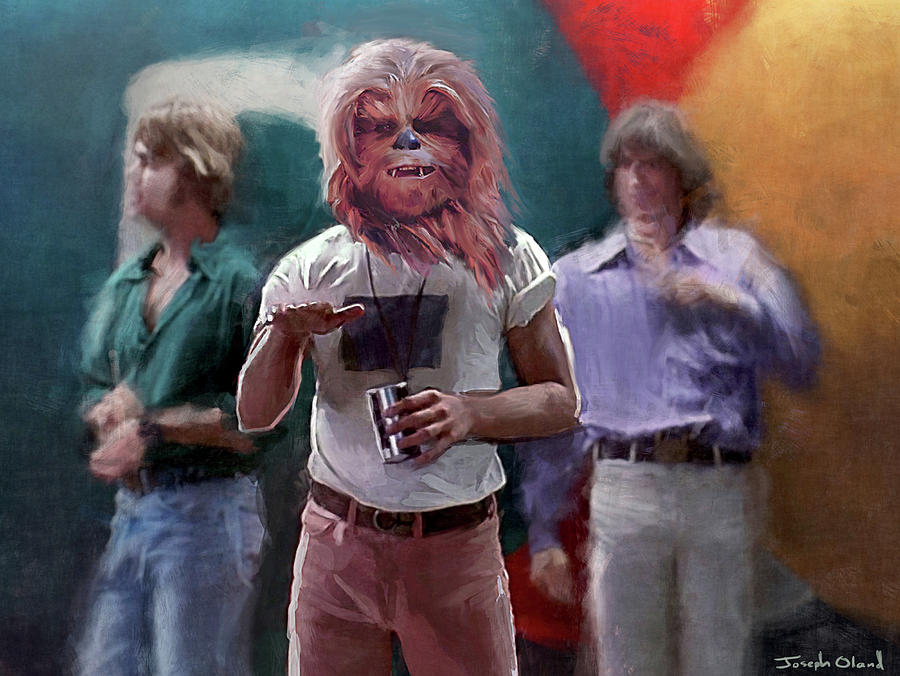 Star Wars Painting - Danzed And Confused Wookie by Joseph Oland