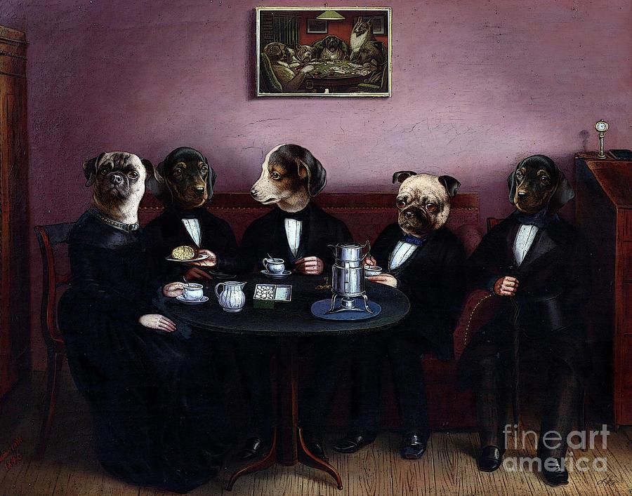 Dogs Digital Art - Dapper Dogs by Kenneth Rougeau