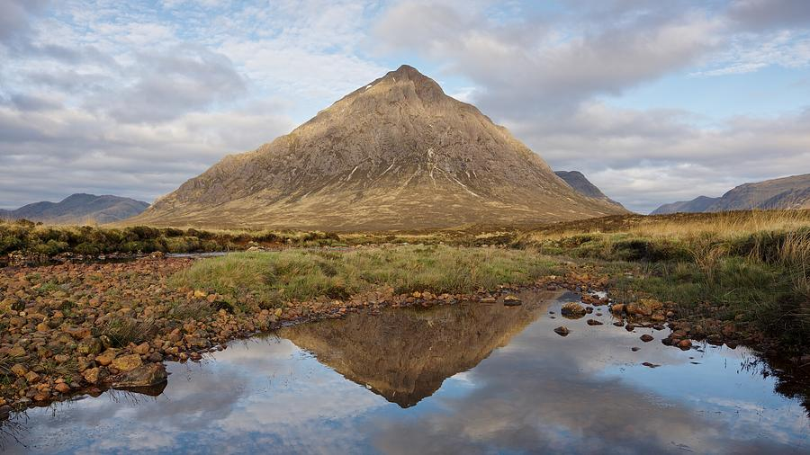 Dappled Light on the Buachaille by Stephen Taylor