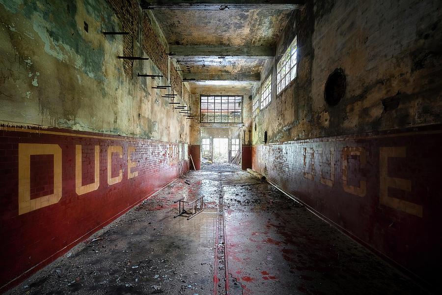 Dark and Abandoned Hallway by Roman Robroek
