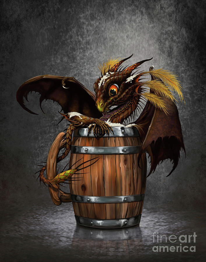 Dark Beer Dragon by Stanley Morrison