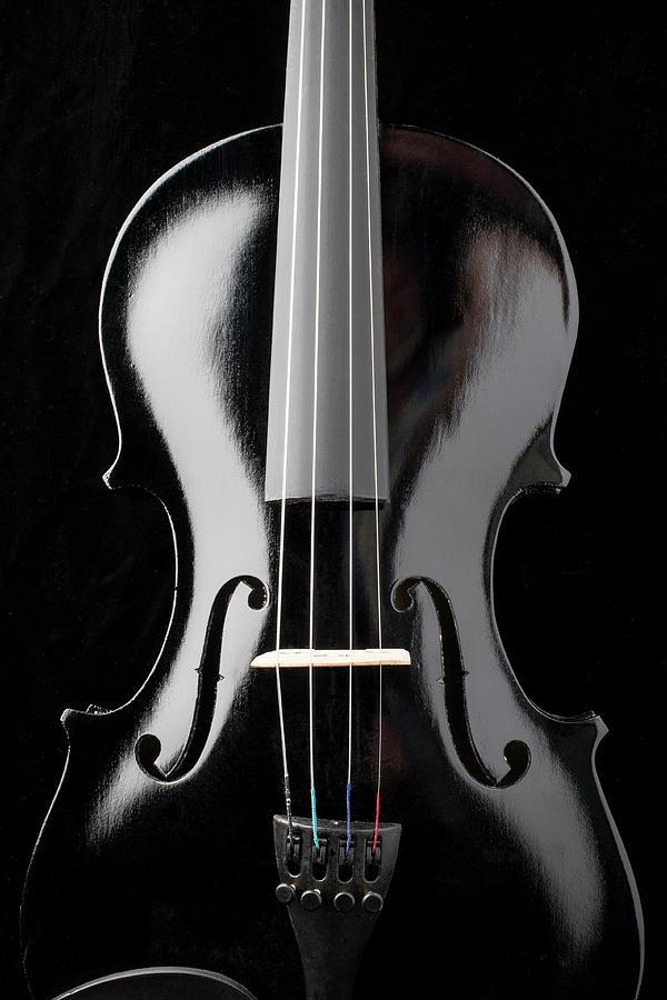 Violin Photograph - Dark Black Violin by Garry Gay