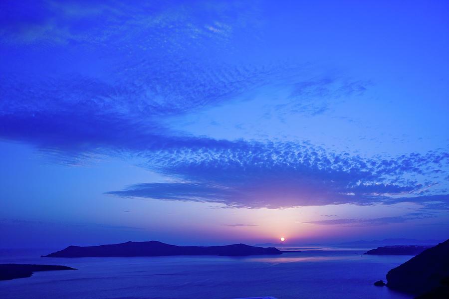 Dark Blue Sunset Photograph by Arturbo