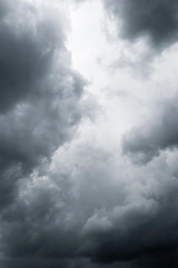 Dark Dramatic Clouds Photograph by Elfinima