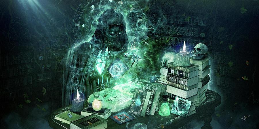 Cameron Gray Digital Art - Dark Mage by Cameron Gray