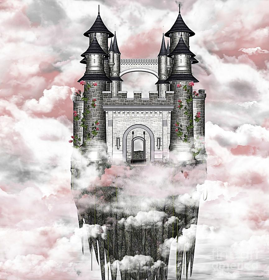 Palace Digital Art - Dark Romantic Castle by Ellerslie