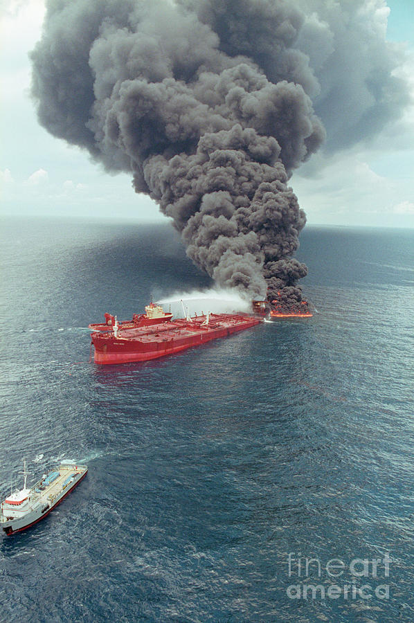 Dark Smoke Rising From Burning Mega Photograph by Bettmann