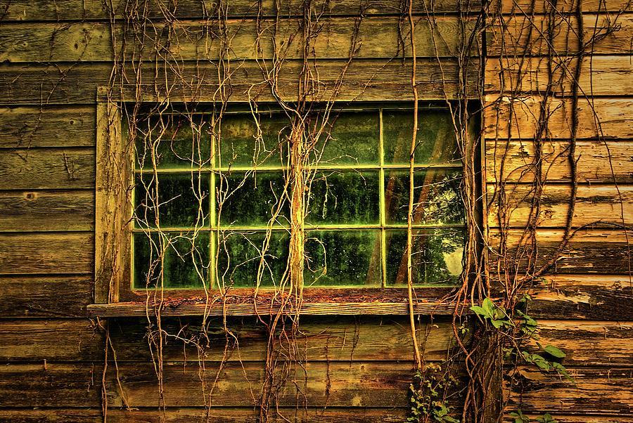 Old Window Photograph - Dark Window by Zal Latzkovich