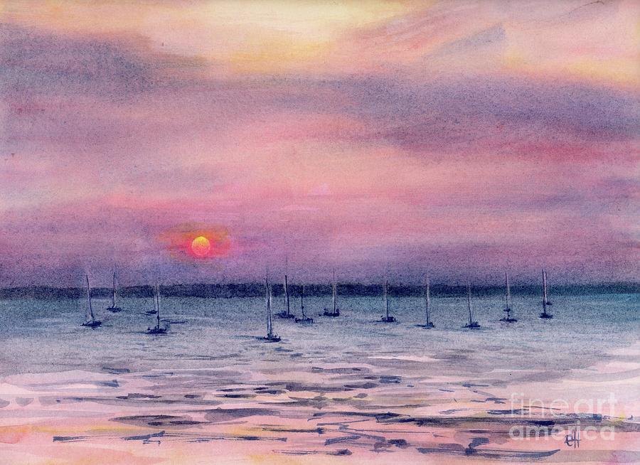 Darwin  Australia Sunset painting by Chris Hobel