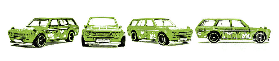 Cars Photograph - Datsun 510 Comic Strip by Jorgo Photography - Wall Art Gallery