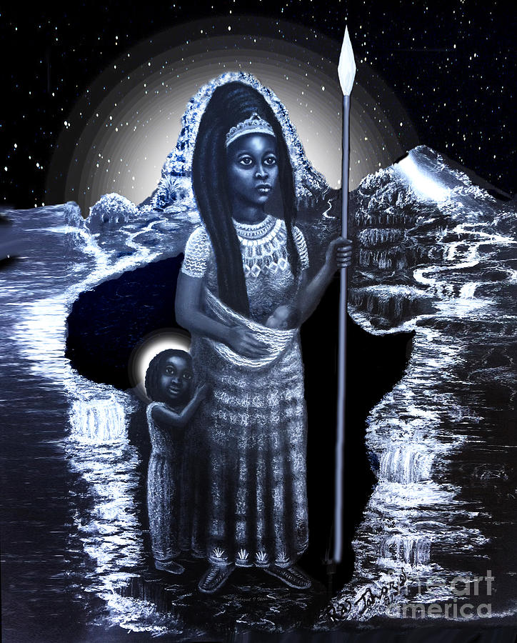 Daughter Of Zion Arise Drawing by Ras Tafari
