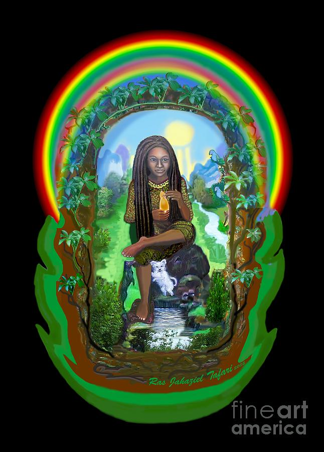 Red Gold And Green Painting - Daughter Of Zion by Ras Tafari