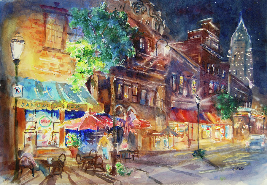 Dauphin Street at Night by Jerry Fair