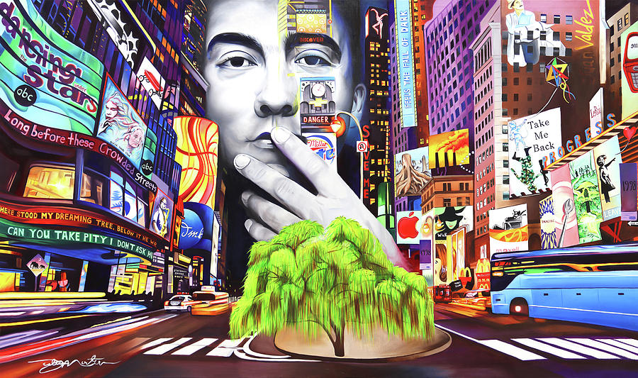 The Dave Matthews Band Painting - Dave Matthews Dreaming Tree by Joshua Morton