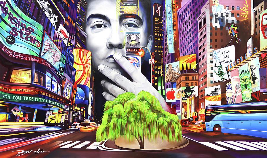 The Dave Matthews Band Painting - Dave Matthews Dreaming Tree by Joshua Morton