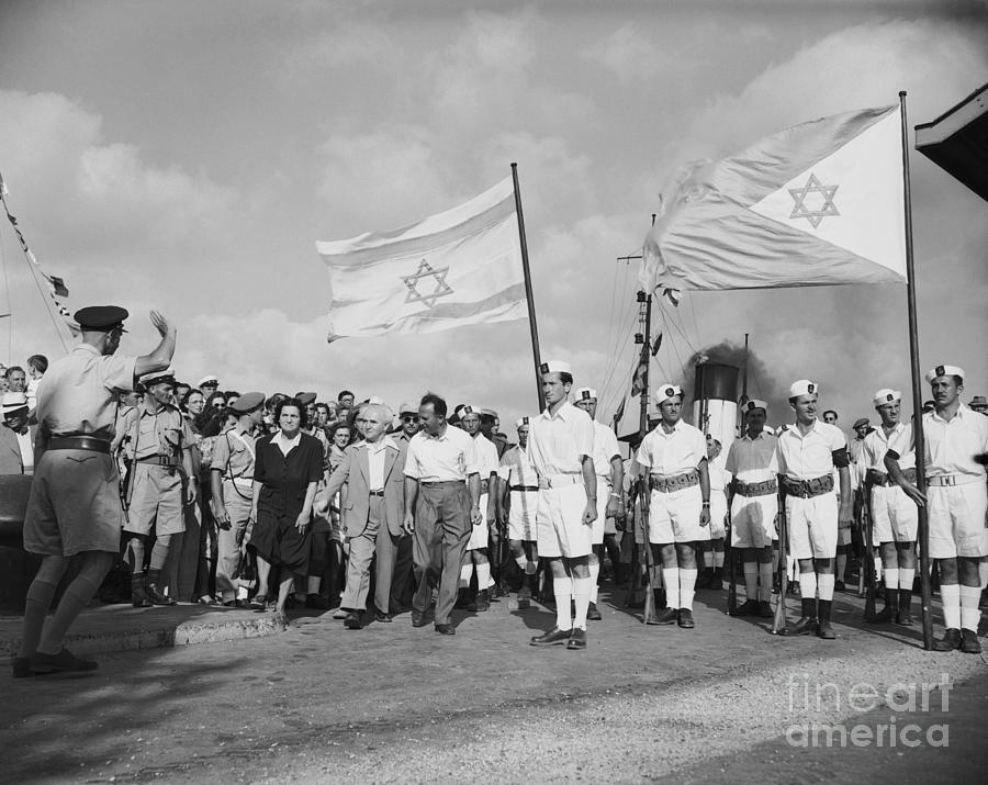 David Ben-gurion As British Leave Israel Photograph by Bettmann