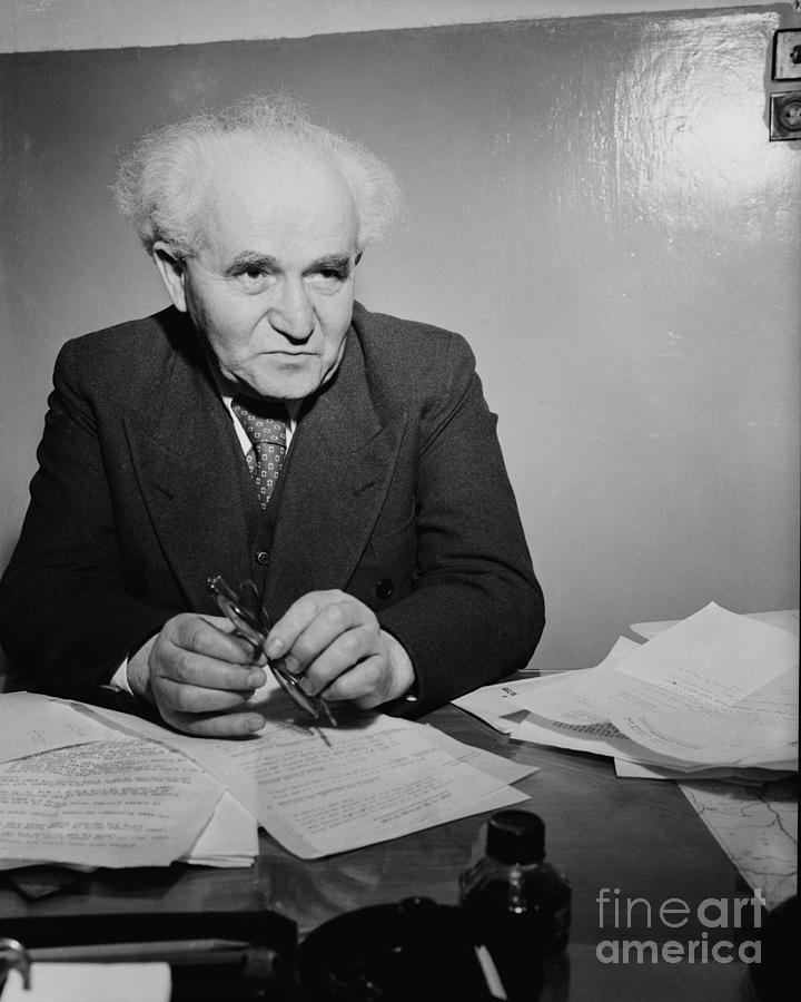 David Ben Gurion In Office Photograph by Bettmann