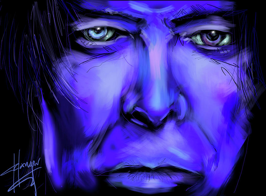 David Bowie Painting - David Bluey by DC Langer