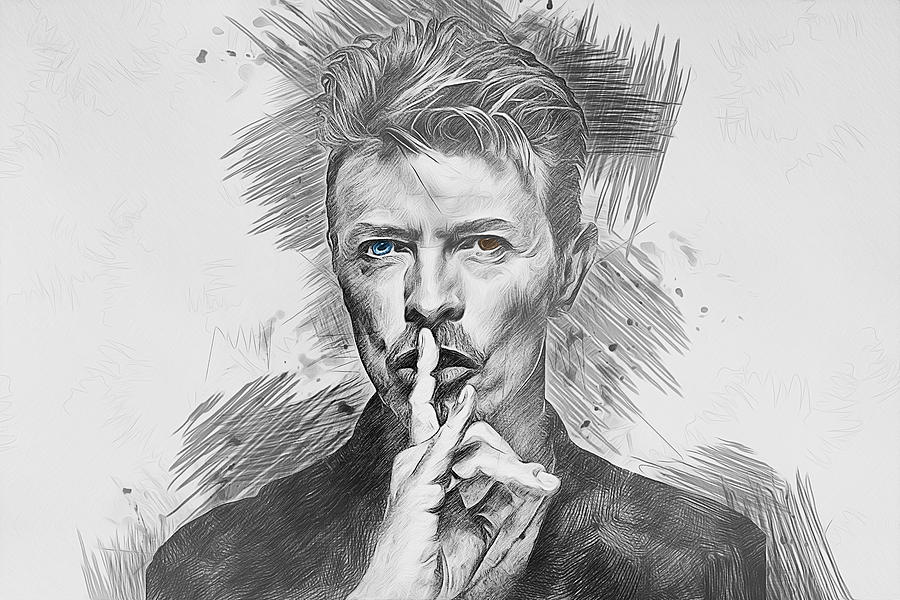 David Bowie. Drawing