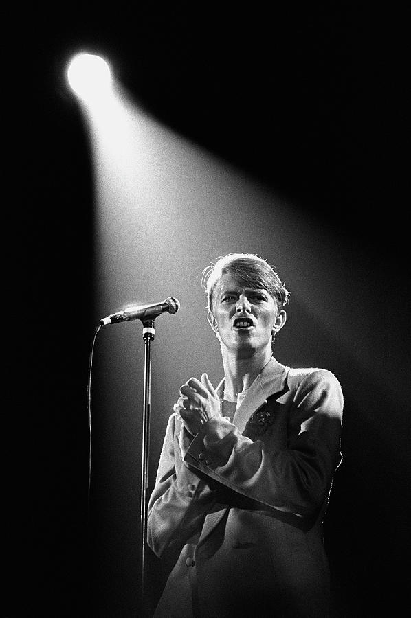 David Bowie In Concert Photograph by George Rose