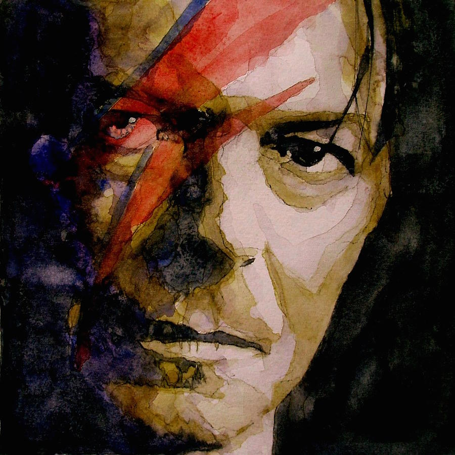 David Bowie Painting - David Bowie - Past And Present  by Paul Lovering