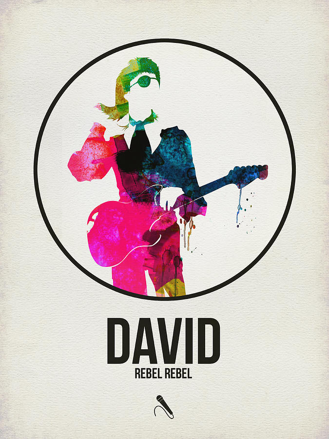 David Bowie Digital Art - David Bowie Watercolor by Naxart Studio