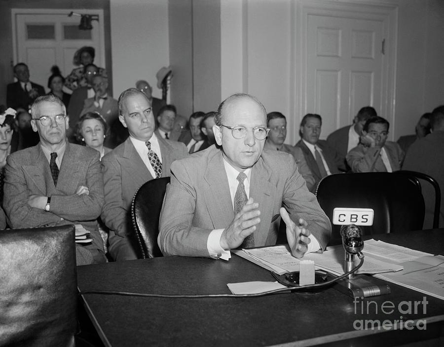 David E. Lilienthal Addressing Congress Photograph by Bettmann