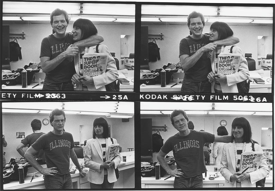 David Letterman And Merrill Markoe Photograph by George Rose