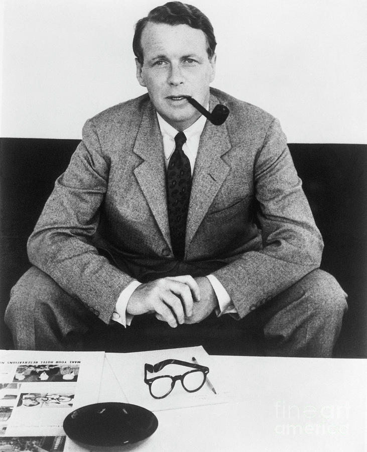 David Ogilvy With Smoking Pipe Photograph by Bettmann