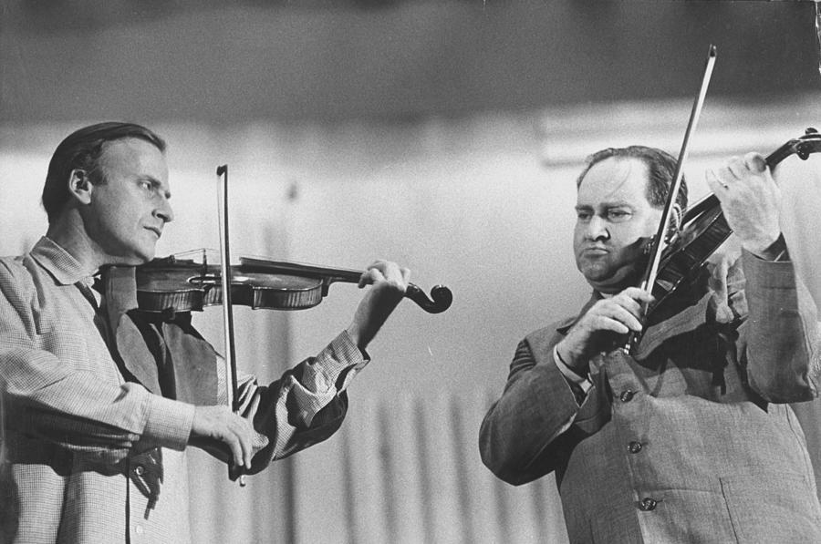 David Oistrakhyehudi Menuhin Photograph by Loomis Dean