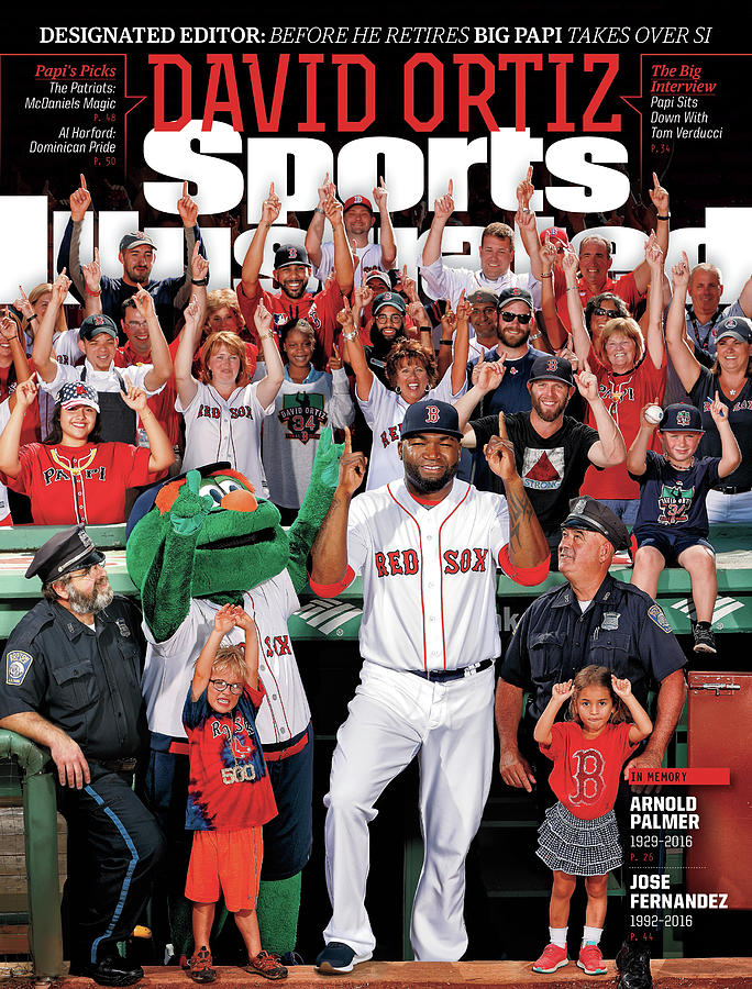 David Ortiz, Designated Editor Before He Retires Big Papi Sports Illustrated Cover Photograph by Sports Illustrated