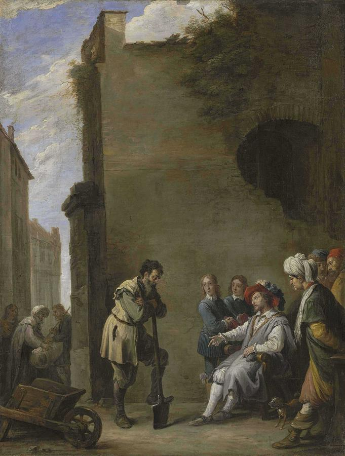 David Teniers II  Antwerp 1610-1690 Brussels The Parable Of The Laborers In The Vineyard Painting