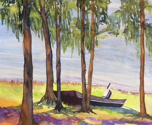 David's Fishing Boat by Vicki Brevell