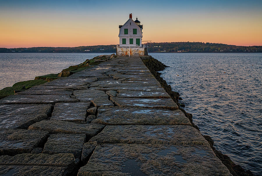 Dawn at Rockland Breakwater by Rick Berk
