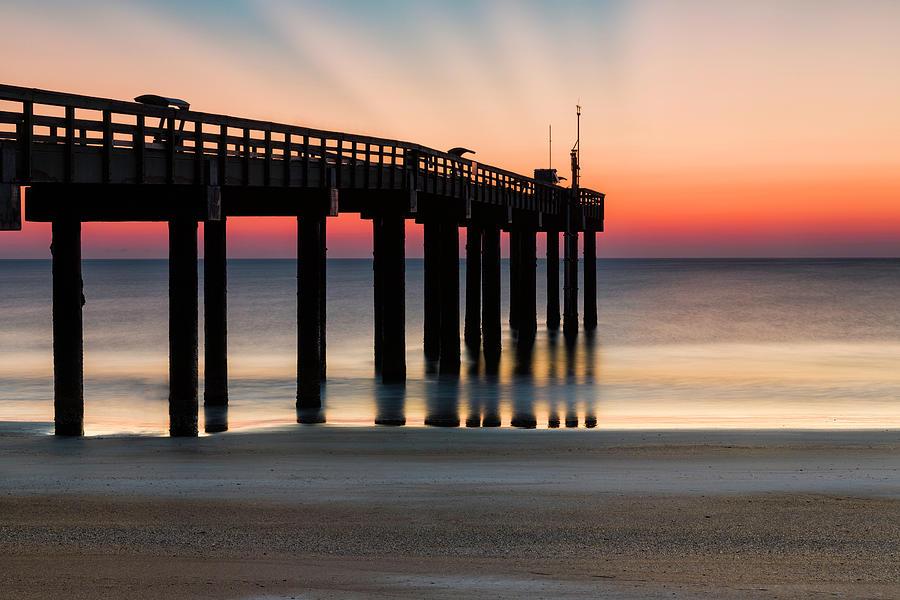 Dawn at St. Johns Pier by Fran Gallogly